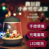 窩自在 聖誕節限定交換禮物 聖誕老人夜燈  聖誕款景觀小夜燈 USB聖誕夜燈
