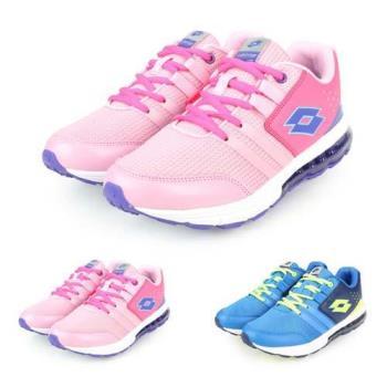 LOTTO 男女大童氣墊跑鞋-慢跑 路跑