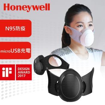 送濾芯10入↘美國Honeywell-N95防疫智慧型動空氣清淨機(黑)MATW9501B