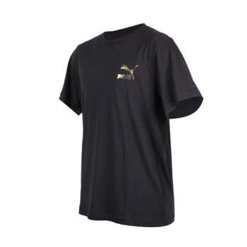 PUMA 男流行系列野地迷彩短袖T恤-短T 慢跑 路跑