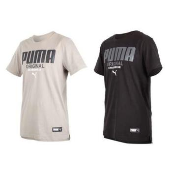 PUMA 男基本系列運動風短袖T恤-短T 慢跑 路跑