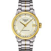 TISSOT T-Classic Luxury 機械女錶-象牙白x金框/33mm T0862072226100