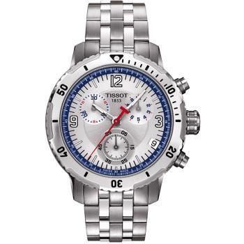 TISSOT PRS 200 Steven Stamkos 限量競賽計時手錶-銀/41mm T0674171103700