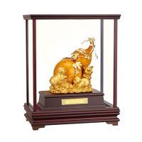 [開運陶源] 純金 立體金箔櫥窗禮品~福祿生財 葫蘆金豬 賺翻天