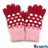 Ex-sports 觸控手套 智慧多功能(女用款-圓點)