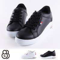 【88%】休閒鞋-MIT台灣製 皮質跟高7cm 內增高 後星星亮粉 休閒鞋 布鞋