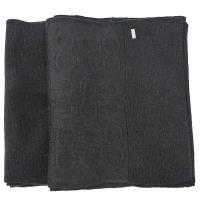 COACH 32711 素面針織羊毛披肩長圍巾.黑