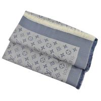 Louis Vuitton LV M71382 Monogram Denim 經典花紋羊毛絲綢披肩圍巾.軍藍 現貨