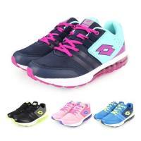 LOTTO 男女大童避震氣墊跑鞋-慢跑 路跑