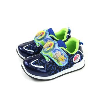 神奇寶貝 寶可夢 皮卡丘 運動鞋 電燈鞋 童鞋 藍色 中童 PA5263 no763