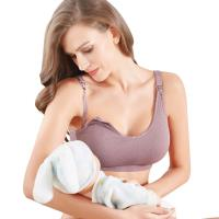 【三件入】哺乳內衣 上開扣無鋼圈立體編織舒壓孕婦胸罩