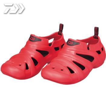Daiwa  日本大和精工 放射狀甲板包覆涼鞋 男女 布希鞋 紅 DL-1412