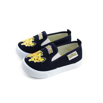 寶可夢 神奇寶貝 皮卡丘 休閒鞋 懶人鞋 深藍色 中童 童鞋 PA7329 no743