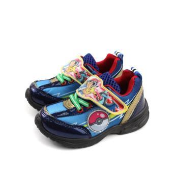 神奇寶貝 寶可夢 皮卡丘 運動鞋 魔鬼氈 童鞋 藍色 中童 PA5228 no739