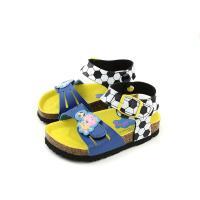 粉紅豬小妹 Peppa Pig 涼鞋 勃肯鞋 魔鬼氈 藍色 印花 小童 童鞋 PG4513 no721