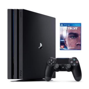 SONY PS4 Pro 7218 1TB-極致黑+底特律:變人–中英文合版