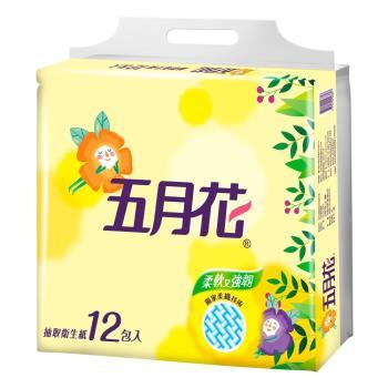 五月花 花園版抽取衛生紙100抽x12包x6袋