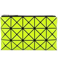 ISSEY MIYAKE 三宅一生 BAOBAO 3x5幾何方格長型亮面零錢手拿包-黃