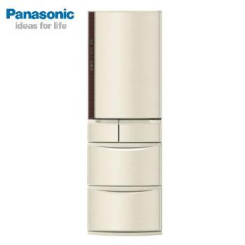 【滿額登記送聚火鍋餐券】最後一台優惠 Panasonic國際牌 一級能效 日本原裝411公升 ECONAVI五門變頻冰箱(香檳金)NR-E412VT-N1(庫)