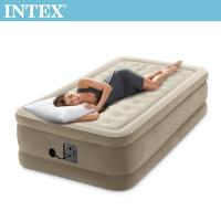 INTEX 超厚絨豪華單人加大充氣床-寬99cm (內建幫浦-fiber tech)(64455)