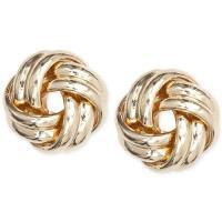 【Anne Klein】2019時尚扭節線條設計款金色耳環(預購)