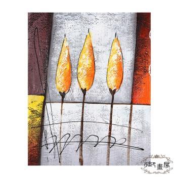 御畫房 手繪無框油畫-銀花火樹 40x50cm