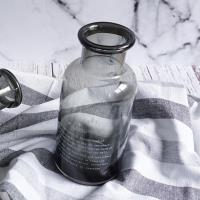 Homely Zakka  北歐經典復古萬用玻璃瓶-小(優雅灰)