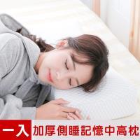 米夢家居-加厚12cm側睡護肩仰睡止鼾-工學灌模記憶中高枕(密度60)一入