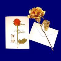 [開運陶源]  黃金 玫瑰花(康乃馨)  贈精美卡片 金箔花禮品 二擇一