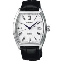 SEIKO精工 Presage百年工藝琺瑯面盤限量機械錶(白/ 38mm) 6R15-03T0S SPB049J1