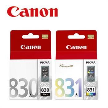 Canon PG-830+CL-831 原廠墨水匣組合(1黑1彩)