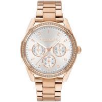 COACH Preston 紐約閃亮三眼晶鑽腕錶(玫瑰金/36mm) 14503267