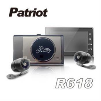愛國者R618 1080P雙鏡頭 防水 防塵 高畫質機車行車記錄器