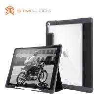 澳洲【STM】Dux Plus 系列 iPad Pro 12.9吋專用 軍規防摔保護殼 可收納Apple Pencil (黑)