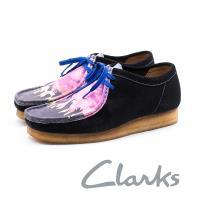 CLARKS 彩繪低幫休閒鞋 男鞋 - 黑