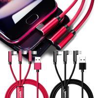 HANG 三合一 Lightning/Micro USB/Type-C 2.4A 充電傳輸線-120CM