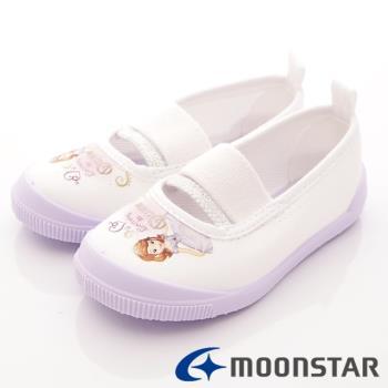 日本Moonstar蘇菲亞聯名室內鞋(紫)小童段-DNS019