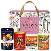 紅布朗 玫瑰金典禮盒(3色葡萄乾+堅果素香鬆+3色堅果+輕烘焙聰明堅果)