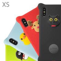 Bone / iPhone XS 手機殼 泡泡保護套 (5.8吋) - 派提鴨/麋鹿先生/喵喵貓/企鵝小丸