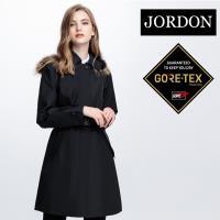 【JORDON 橋登】 女款單件式GORE-TEX 3 LAYER 長版時尚風衣(1954)
