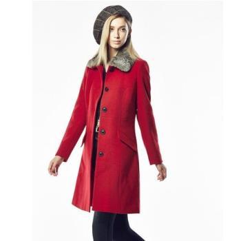 法國BC設計魚骨織紋羊毛大衣-YSV-獨-勁