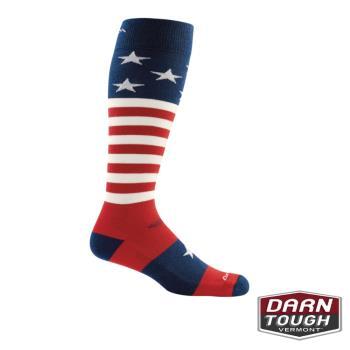 [ 美國DARN TOUGH ] 男羊毛襪Captain Stripe Over-the-Calf Light滑雪襪(顏色隨機)