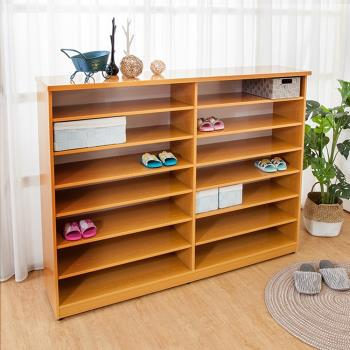 Boden-防潮防蛀 防水塑鋼5尺開放式鞋櫃(木紋)