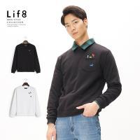 Life8-Casual繡出來 魔術方塊 刷毛口袋圓領TEE -10176