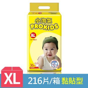 小淘氣 透氣乾爽紙尿褲36片x6包-XL