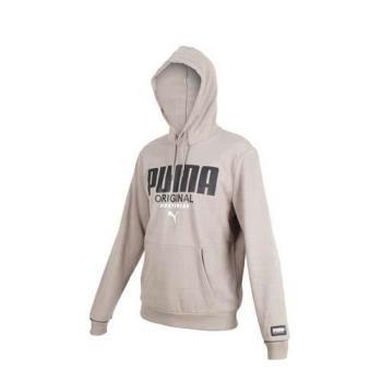 PUMA 男基本系列運動風連帽T恤-慢跑 路跑 長袖帽T 刷毛 保暖