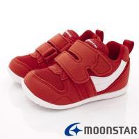 日本月星MOONSTAR-頂級童鞋 HI系列2E抗菌款 MSB77S1紅白(寶寶段)