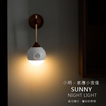 SOTHING 小明人體感應燈 小夜燈 光控+人體感應 LED燈/玄關燈/床頭燈