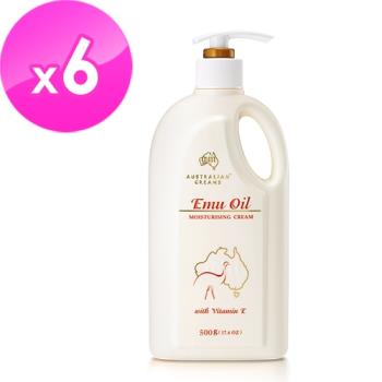 澳洲GM 鴯鶓油滋潤保濕霜含維他命E 500g/瓶(家庭號) 6入組