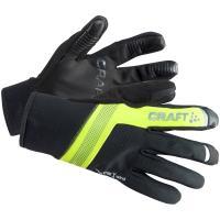 瑞典CRAFT 防風手套 SHELTER 1904452 黑/黃配色